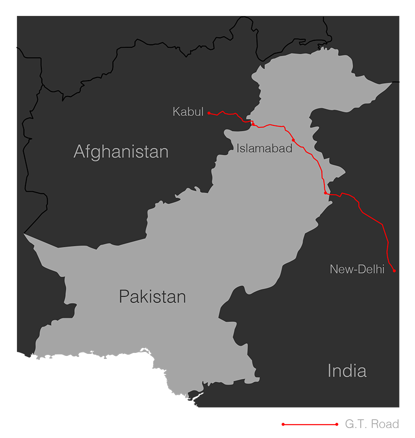 map gt road